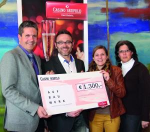 Nordischer Weltcup: Casino Seefeld unterstützt das AufBauWerk