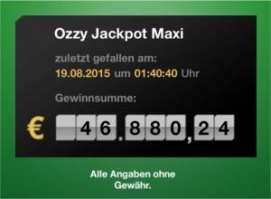 "Wiesbaden: ""Ozzy Jackpot Maxi"" mit 46.000 Euro geknackt"