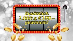 """Casinos Austria: Zusätzlich 1.000 x 100 am """"Doppeltag"""""""
