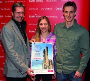 Weltklasse-Kletterpaar zu Gast im Casino Seefeld