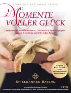 """""""Glücksmomente"""": Geschenkpakete der Spielbanken Bayern"""