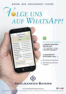 WhatsApp Dienst der Spielbanken Bayern