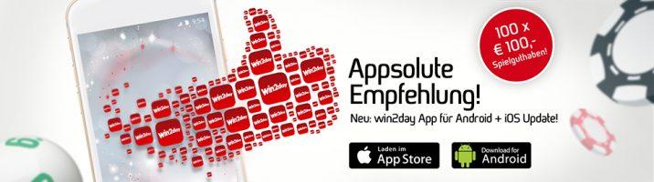 Gewinnspiel: win2day launcht App für iOS und Android