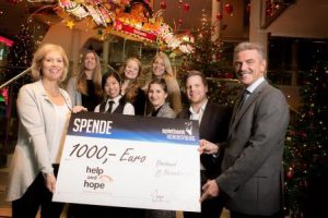 """Spielbank Hohensyburg spendet €1.000 an die """"Help and hope Stiftung"""""""
