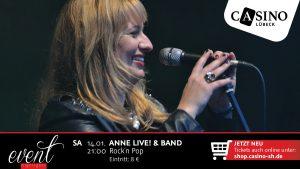14. Januar: Anne Live! & Band im Casino Lübeck