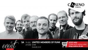 United Members of Funk live am 11. Februar im Casino Lübeck