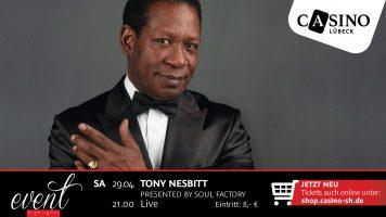 29. April: Tony Nesbitt live im Casino Lübeck