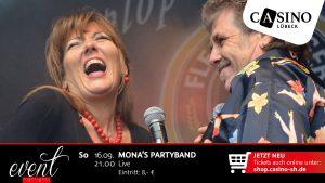 16. September: Mona's Partyband live im Casino Lübeck