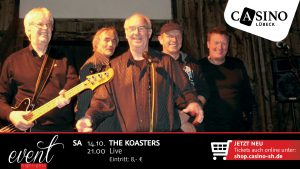 "14. Oktober: Kult-Band ""The Koasters"" live im Casino Lübeck"