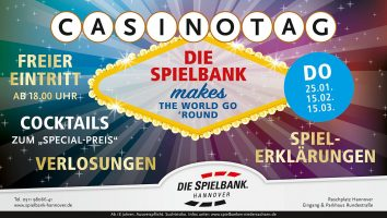 15. Februar: Casinotag in der Spielbank Hannover