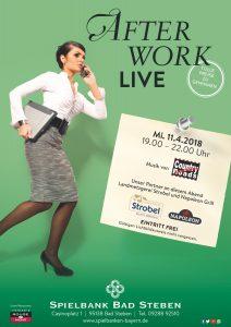 After Work Live am 11. April in der Spielbank Bad Steben