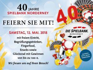 12. Mai: Die Spielbank Norderney wird 40 Jahre alt