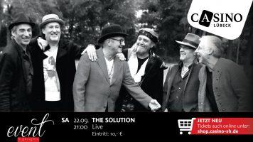 22. September: The Solution live im Casino Lübeck