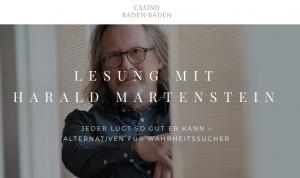 """Casino Baden-Baden: """"Jeder lügt so gut er kann"""" – Lesung mit Harald Martenstein"""