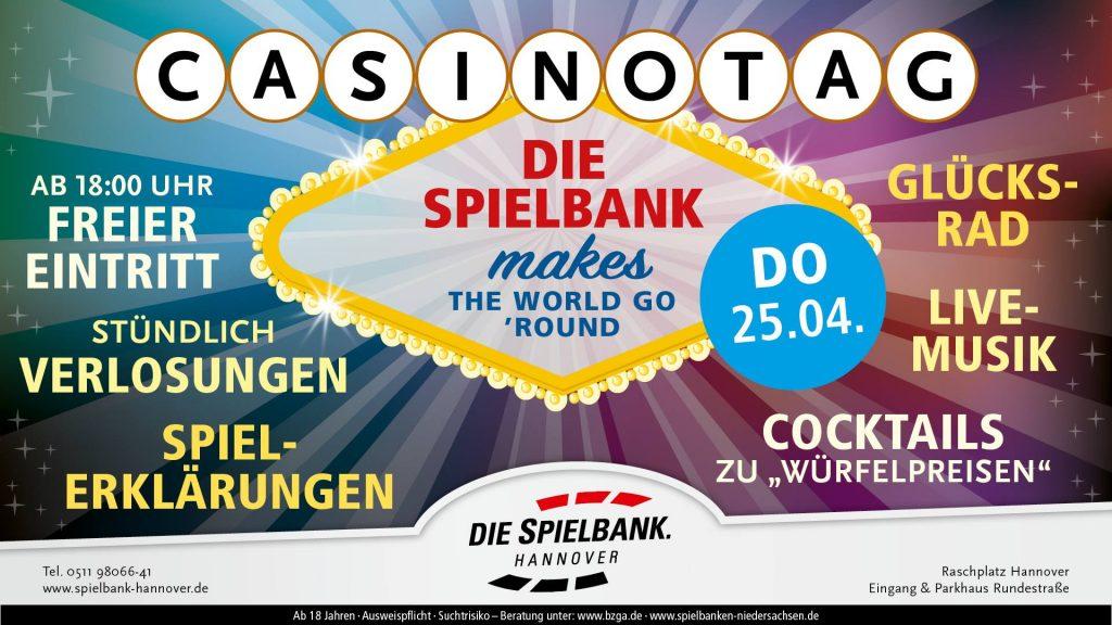Spielbank Hannover lädt zum Casinotag
