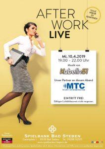 Spielbank Bad Steben: After Work Live mit Kabelln 51 & MTC
