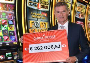 Casino Bregenz: Fort Knox Automatenjackpot mit 262.000 Euro geknackt