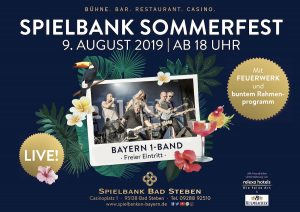9. August: Sommerfest in der Spielbank Bad Steben