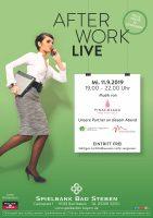 11. September: After Work Live Party in der Spielbank Bad Steben