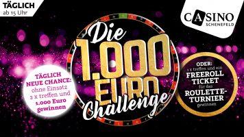 Casino Schenefeld: Täglich € 1.000 bei der Roulette Challenge gewinnen