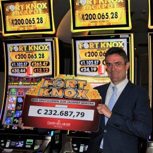 Casino Zell am See: Fort Knox Jackpot in der Höhe von 232.687,79 Euro geknackt