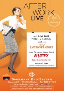 "After Work Live Party in der Spielbank Bad Steben mit ""Trio Saitenverkehrt"""