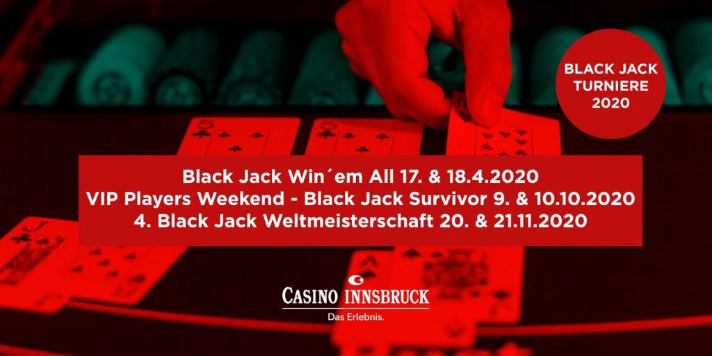 Das Black Jack Jahr 2020 im Casino Innsbruck