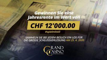 CHF 12.000 Jahresrente warten im Grand Casino Liechtenstein