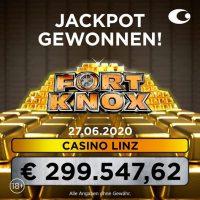 Casino Linz: Höchster Fort Knox Jackpot mit fast € 300.000 geknackt!
