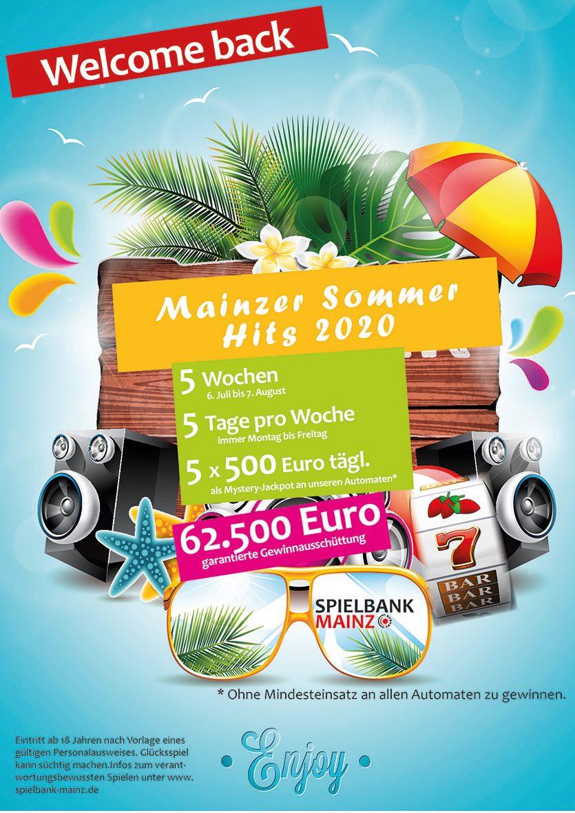 Spielbank Mainz: Mehr als € 60.000 warten bei den Mainzer Sommer Hits