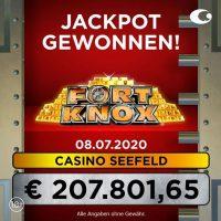 Casino Seefeld: € 207.801 beim Fort Knox Jackpot gewonnen!
